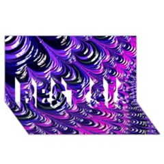 Special Fractal 31pink,purple BEST SIS 3D Greeting Card (8x4)