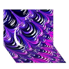 Special Fractal 31pink,purple Circle 3d Greeting Card (7x5)