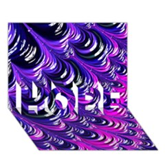 Special Fractal 31pink,purple Hope 3d Greeting Card (7x5)