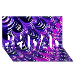 Special Fractal 31pink,purple #1 DAD 3D Greeting Card (8x4)