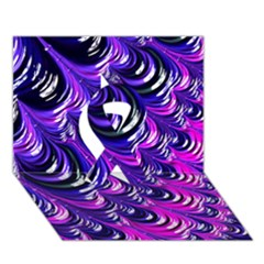 Special Fractal 31pink,purple Ribbon 3D Greeting Card (7x5)