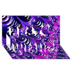 Special Fractal 31pink,purple Best Wish 3D Greeting Card (8x4)
