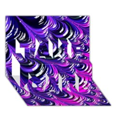 Special Fractal 31pink,purple Take Care 3d Greeting Card (7x5)