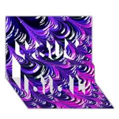 Special Fractal 31pink,purple You Did It 3d Greeting Card (7x5)