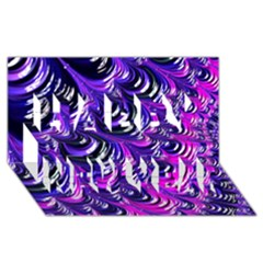 Special Fractal 31pink,purple Happy New Year 3d Greeting Card (8x4)