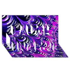 Special Fractal 31pink,purple Laugh Live Love 3d Greeting Card (8x4)