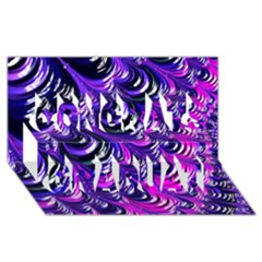 Special Fractal 31pink,purple Congrats Graduate 3D Greeting Card (8x4)