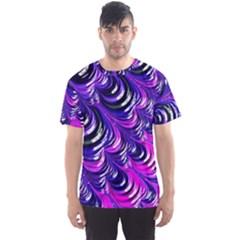 Special Fractal 31pink,purple Men s Sport Mesh Tees