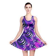 Special Fractal 31pink,purple Reversible Skater Dresses