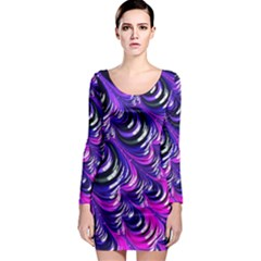 Special Fractal 31pink,purple Long Sleeve Bodycon Dresses