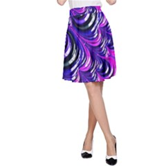 Special Fractal 31pink,purple A-Line Skirts