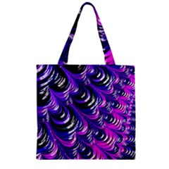 Special Fractal 31pink,purple Zipper Grocery Tote Bags