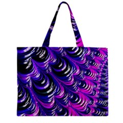 Special Fractal 31pink,purple Zipper Tiny Tote Bags