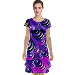 Special Fractal 31pink,purple Cap Sleeve Nightdresses