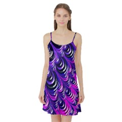 Special Fractal 31pink,purple Satin Night Slip