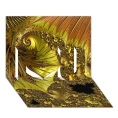 Special Fractal 35cp I Love You 3D Greeting Card (7x5)