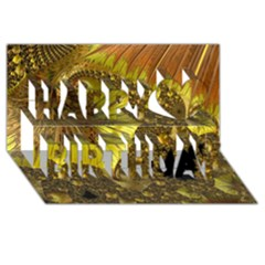 Special Fractal 35cp Happy Birthday 3d Greeting Card (8x4)