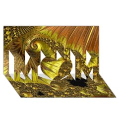 Special Fractal 35cp MOM 3D Greeting Card (8x4)