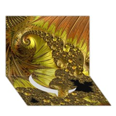 Special Fractal 35cp Circle Bottom 3d Greeting Card (7x5)