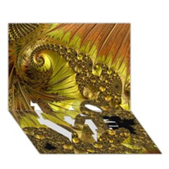 Special Fractal 35cp Love Bottom 3d Greeting Card (7x5)