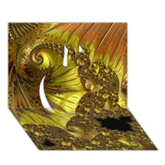 Special Fractal 35cp Apple 3d Greeting Card (7x5)