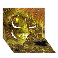Special Fractal 35cp Clover 3d Greeting Card (7x5)