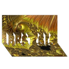 Special Fractal 35cp BEST SIS 3D Greeting Card (8x4)