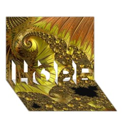 Special Fractal 35cp HOPE 3D Greeting Card (7x5)