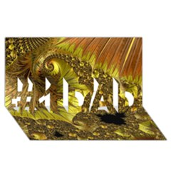 Special Fractal 35cp #1 Dad 3d Greeting Card (8x4)