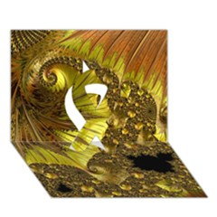 Special Fractal 35cp Ribbon 3d Greeting Card (7x5)