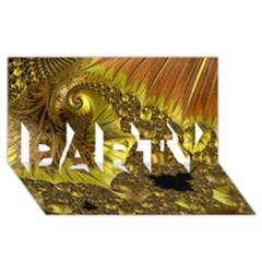 Special Fractal 35cp PARTY 3D Greeting Card (8x4)