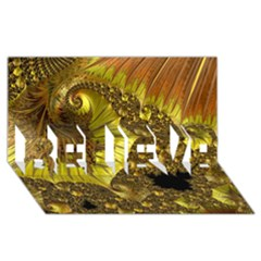 Special Fractal 35cp BELIEVE 3D Greeting Card (8x4)