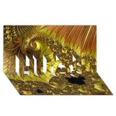 Special Fractal 35cp HUGS 3D Greeting Card (8x4)