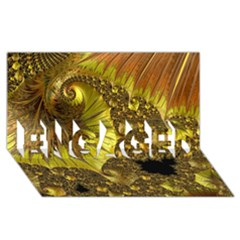 Special Fractal 35cp ENGAGED 3D Greeting Card (8x4)