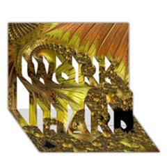 Special Fractal 35cp Work Hard 3d Greeting Card (7x5)