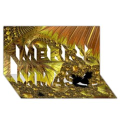 Special Fractal 35cp Merry Xmas 3d Greeting Card (8x4)