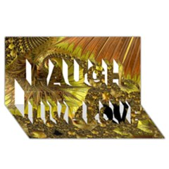 Special Fractal 35cp Laugh Live Love 3D Greeting Card (8x4)
