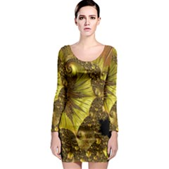 Special Fractal 35cp Long Sleeve Bodycon Dresses
