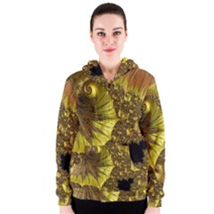 Special Fractal 35cp Women s Zipper Hoodies