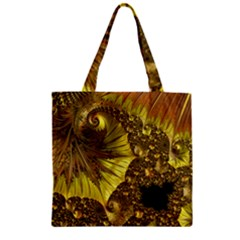 Special Fractal 35cp Zipper Grocery Tote Bags