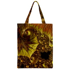 Special Fractal 35cp Zipper Classic Tote Bags