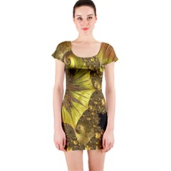 Special Fractal 35cp Short Sleeve Bodycon Dresses