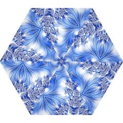 Special Fractal 17 Blue Mini Folding Umbrellas