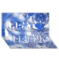 Special Fractal 17 Blue Best Friends 3D Greeting Card (8x4)