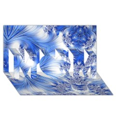 Special Fractal 17 Blue Mom 3d Greeting Card (8x4)