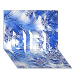 Special Fractal 17 Blue GIRL 3D Greeting Card (7x5)