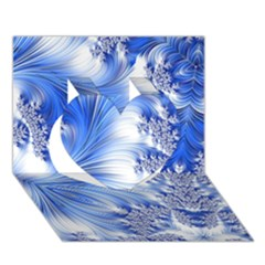 Special Fractal 17 Blue Heart 3D Greeting Card (7x5)