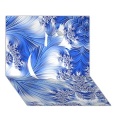 Special Fractal 17 Blue Apple 3D Greeting Card (7x5)