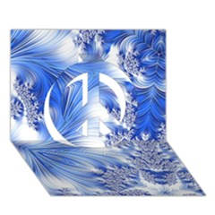 Special Fractal 17 Blue Peace Sign 3D Greeting Card (7x5)