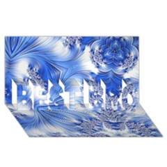 Special Fractal 17 Blue Best Bro 3d Greeting Card (8x4)